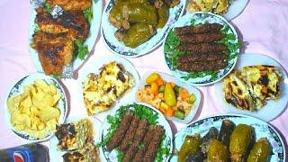 فطارنا اول يوم رمضان والطريقه بالتفصيل وبسرعه ❤اكلات رمضان ❤بشاميل ،كفته،فراخ،محشي ⬇️⬇️ف صندوق الوصف