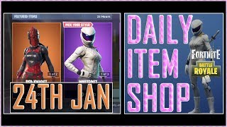 Fortnite: Daily Item Shop (24th January) RED KNIGHT & WHITEOUT Featured Skin - Battle Royale New