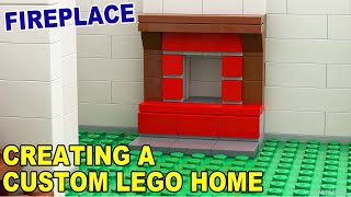 Tutorial - Creating A Custom Lego Home - Fireplace [cc]