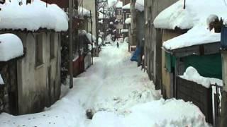 Alaçam ilçesi karlar altında