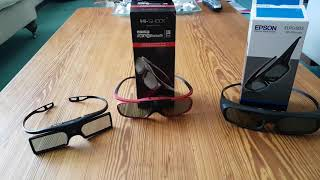 Sintron vs Hi Shock vs Epson 3d glasses review