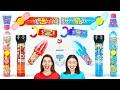 レッドVSブルーチャレンジ - 最後まで食べた人の勝ち!キャンディモクバン By 123 GO! CHALLENGE