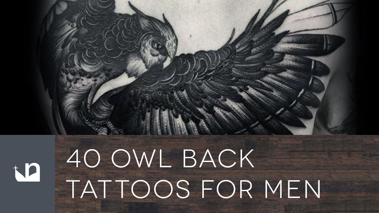 40 Owl Back Tattoos For Men Doovi