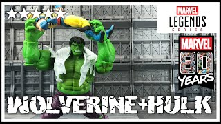 Marvel 80th Anniversary: Marvel Legends WOLVERINE & HULK 2 pack