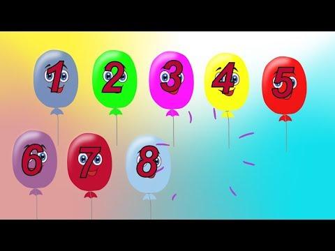 Считаем от 1 до 10 и обратно. Учимся считать. Математика для дошкольников.Развивающие мультики.