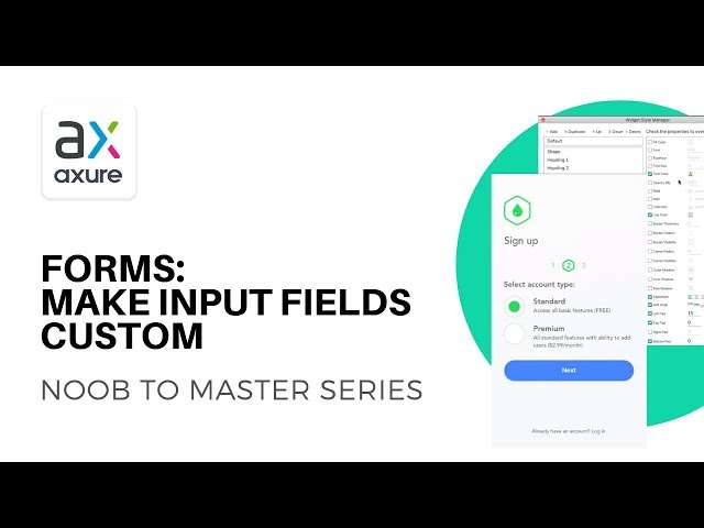 Custom Form Inputs and Radio Buttons  | Axure RP: Noob to Master Ep9