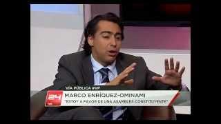Marco Enríquez-Ominami en Vía Pública (Canal 24 Horas)