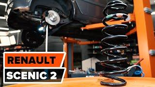 Wie RENAULT SCÉNIC 2 Fahrwerksfedern hinten wechseln TUTORIAL | AUTODOC