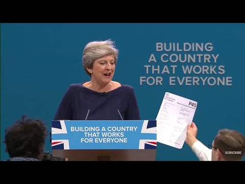 Theresa May's Tory party conference speech (in full) 4th October 2017