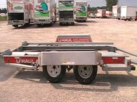 u-haul vid how to load an auto transport - YouTube