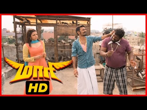 Maari Tamil Movie | Scenes | Kajal Aggarwal Comes To Work For Dhanush | Robo Shankar
