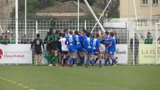 Rugby Bagarre Générale Match Stade Jean Alex Fernandez Toulon Live TV Sports 2017