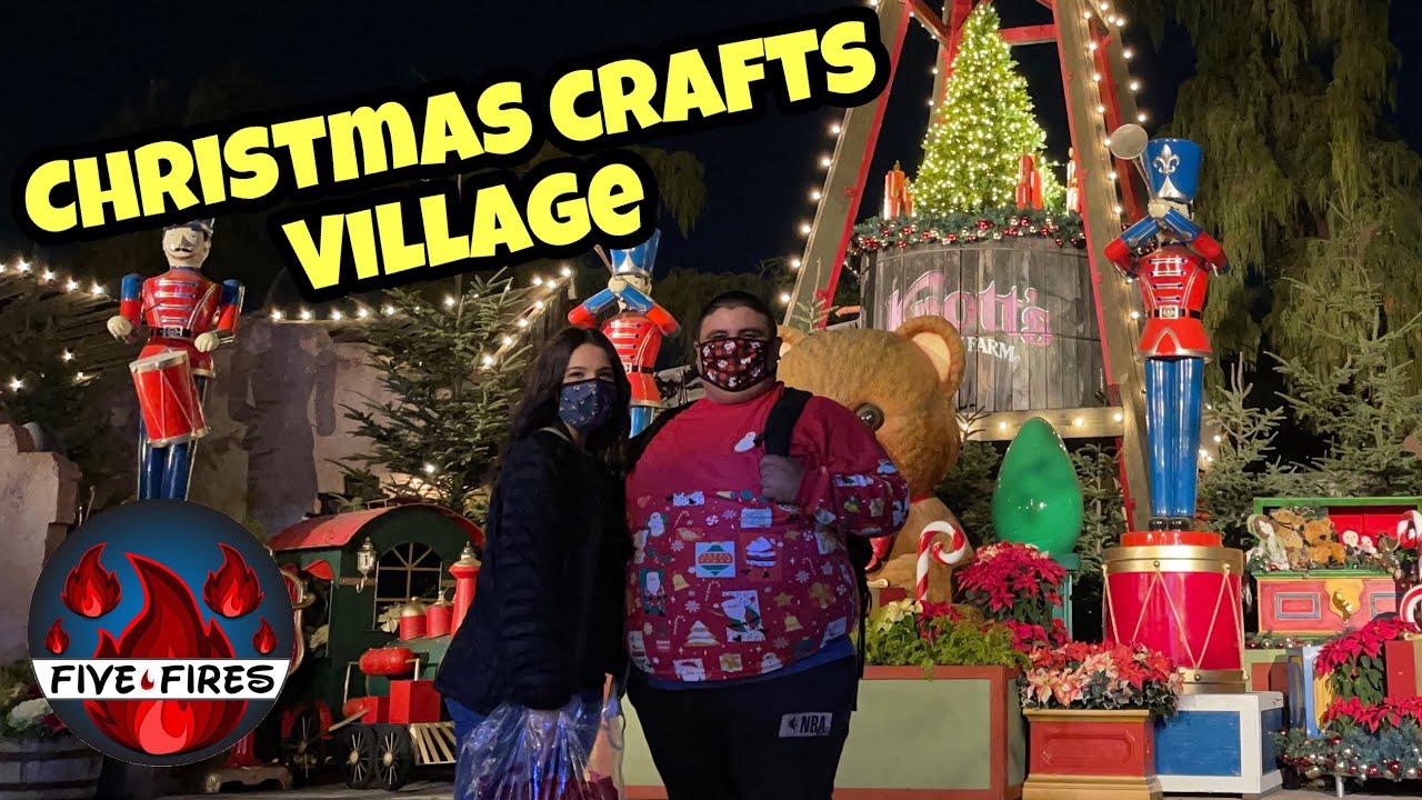Christmas Crafts Village At Night | Knott's Berry Farm 2020   YouTube