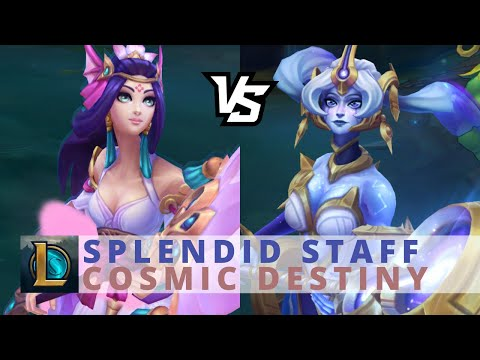 Cosmic Destiny Nami vs Splendid Staff Nami - League Of Legends
