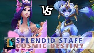 Cosmic Destiny Nami vs Splendid Staff Nami - League Of Legends