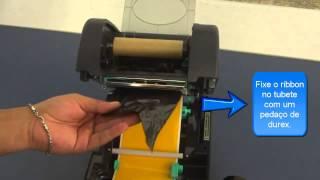 colocando ribbon tl3 plus teclabel