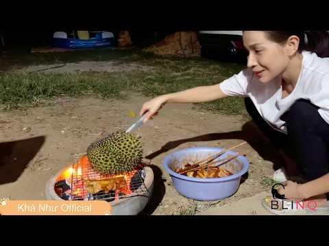 Khả Như Làm Tiệc Nướng Tại Vườn | Sầu Riêng Nướng & Bánh Căn Hấp Dẫn | #Stayhome And Cook #Withme
