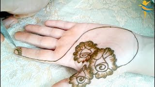 Henna Design with flower designs in a modern, ornate design that captures hearts