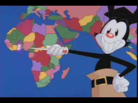 Yakko's World karaoke version -- Animaniacs Nations of the World