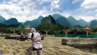 Star Wars Battlefront 1 gameplay Kashyyyk Docks Clone Wars  mission 7