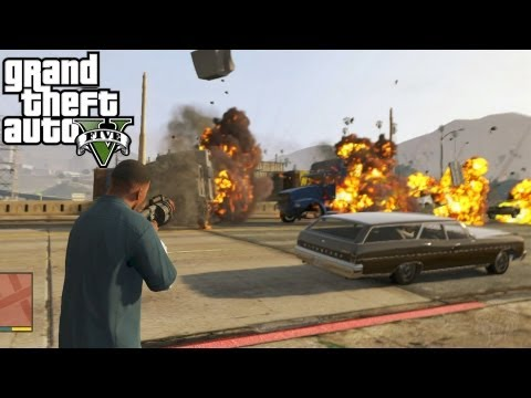 GTA 5: Grenade Launcher Location + Shooting Gameplay! Where To Find The Grenade Launcher (GTA V)