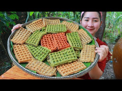 Yummy Waffles Cake Cooking - Waffles Cake - Cooking With Sros
