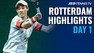 Nishikori Battles Auger-Aliassime; Murray in Action | Rotterdam 2021 Highlights Day 1