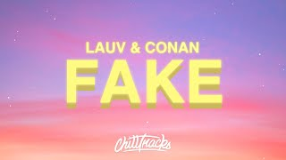 Download lagu Lauv & Conan Gray - Fake (Lyrics)