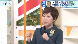 キレッキレの小松アナ どっちもどっち論を展開する金慶珠を論破