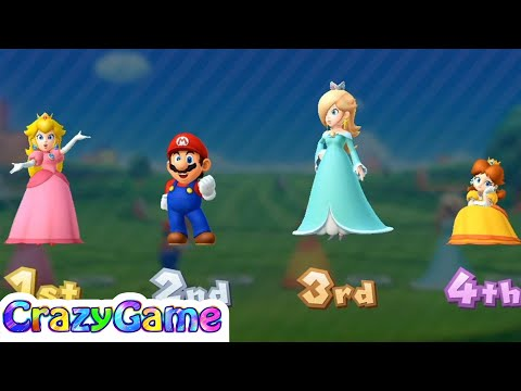 Mario Party 10 Coin Challenge #18 Daisy vs Peach vs Rosalina vs Mario Gameplay