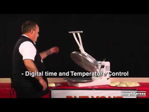 DoughXpress Manual Pizza Press demonstrated - JD Honigberg International
