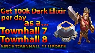 Clash Of Clans - Farm 100k Dark elixir per day as a TH7 TH8 OR TH9, Get Barbarian King FAST