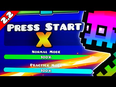 ▶PRESS START X◀ [MY BEST 2.2 LAYOUT] - Akraziel & Me! | Geometry Dash [2.2]