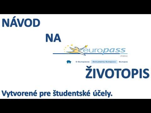 Navod Na Europass Zivotopis Youtube