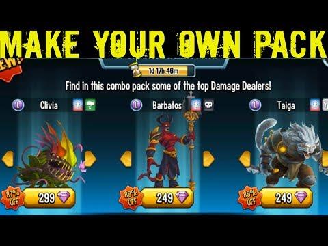 Monster Legends | Make Your Own Pack | Top Damage Dealers Pack | Breeding Combo Pack