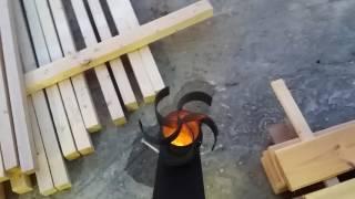Улучшенная ракетная печь (вариант). Improved rocket stove (optional)