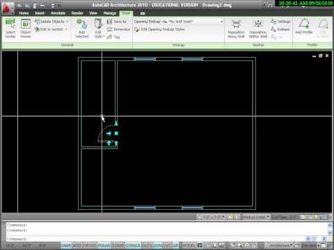 Intro to Drawing Floor Plans with AutoCAD Architecture