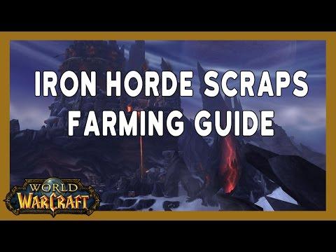 Very Lucrative Iron Horde Scraps Farming Spot Wow