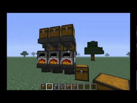 Minecraft - How to Build an Auto Smelter In Vanilla