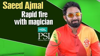 Rapid fire with magician Saeed Ajmal