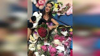 Бузова в шоке от количества цветов подаренных в Анапе