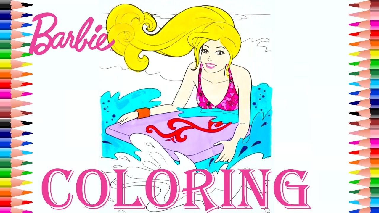 coloring pages barbie in a mermaid coloring book for kids youtube