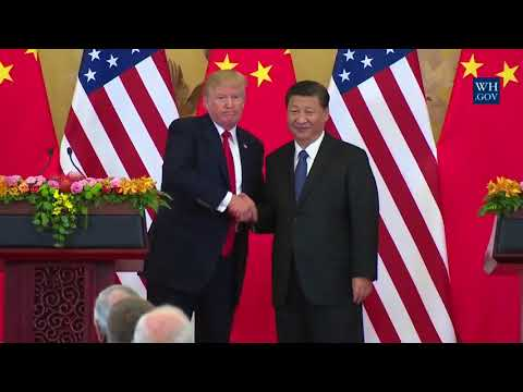 Download Youtube: TRUMP IN CHINA: President Trump AMAZING SPEECH at Joint Press Conference with President Xi Jinping