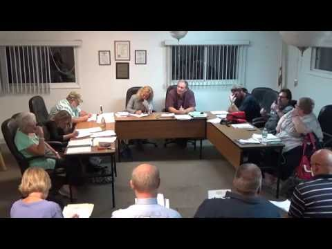 10/17/16 Village of Holiday Hills Board Meeting pt.1