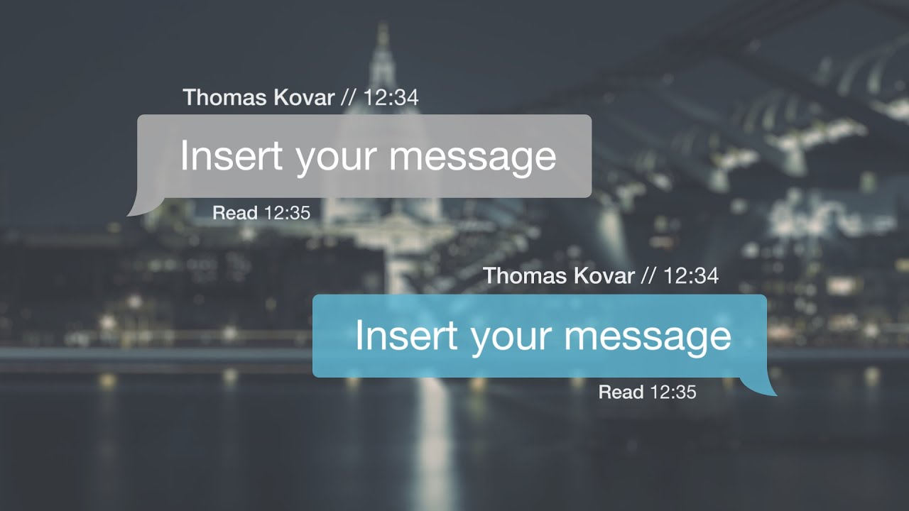 Text Message Kit for After Effects