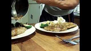 Pork Balsamic Sage Mashed Potatoes Fresh Garden Vegetables 3/4 Chef John The Ghetto Gourmet