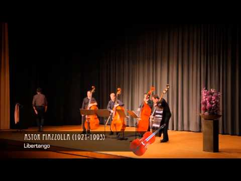 Bassics & Timo Brunke: TANGO!   Piazzolla: Libertango für vier Kontrabässe