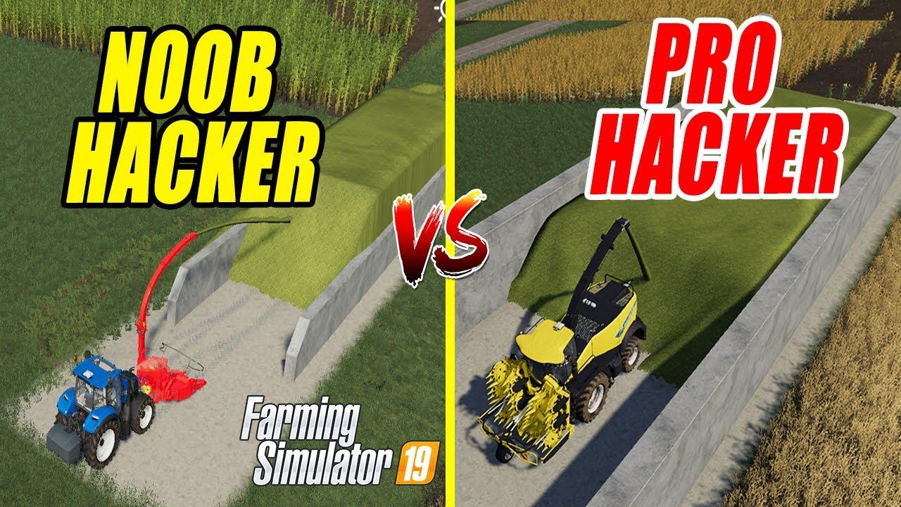 Farming Simulator 19 | NOOB vs PRO ! Hacker Comparison ! Easy Silo  Filling!!!