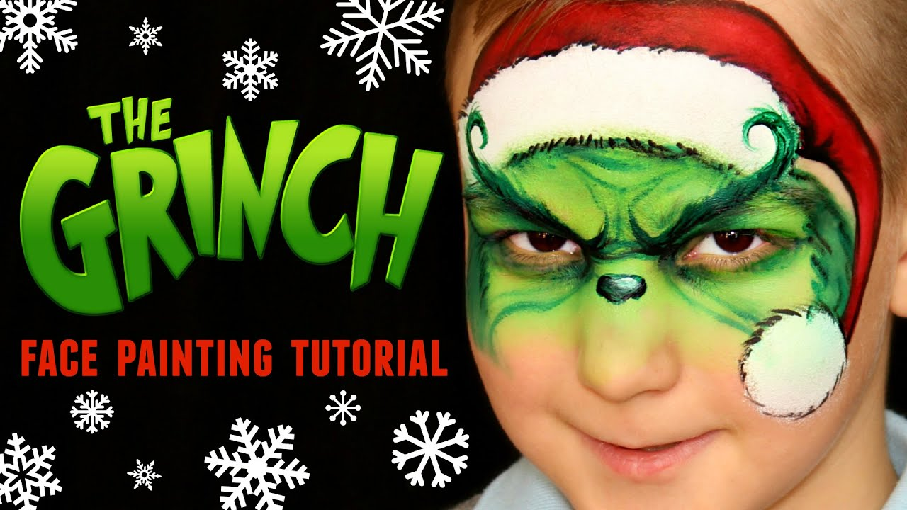 The Grinch Christmas Face Painting Makeup Tutorial