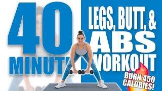 40 Minute Legs, Butt, and Abs Strength Workout 🔥Burn 450 Calories! 🔥Sydney Cummings